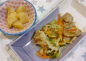 鶏肉のマスタード炒め 完成した写真